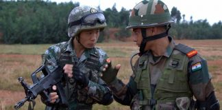 Soldiers of India and China during joint military exercise at Kunming in China (file picture). Photo: UNI
