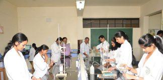 Medical students in a laboratory. Photo: www.jssuni.edu.in
