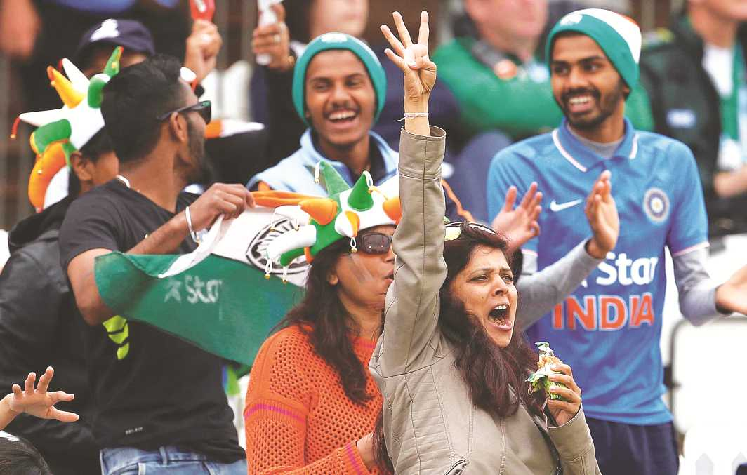 Indian fans in Derby at the recently held Women's Cricket World Cup. Photo: UNI