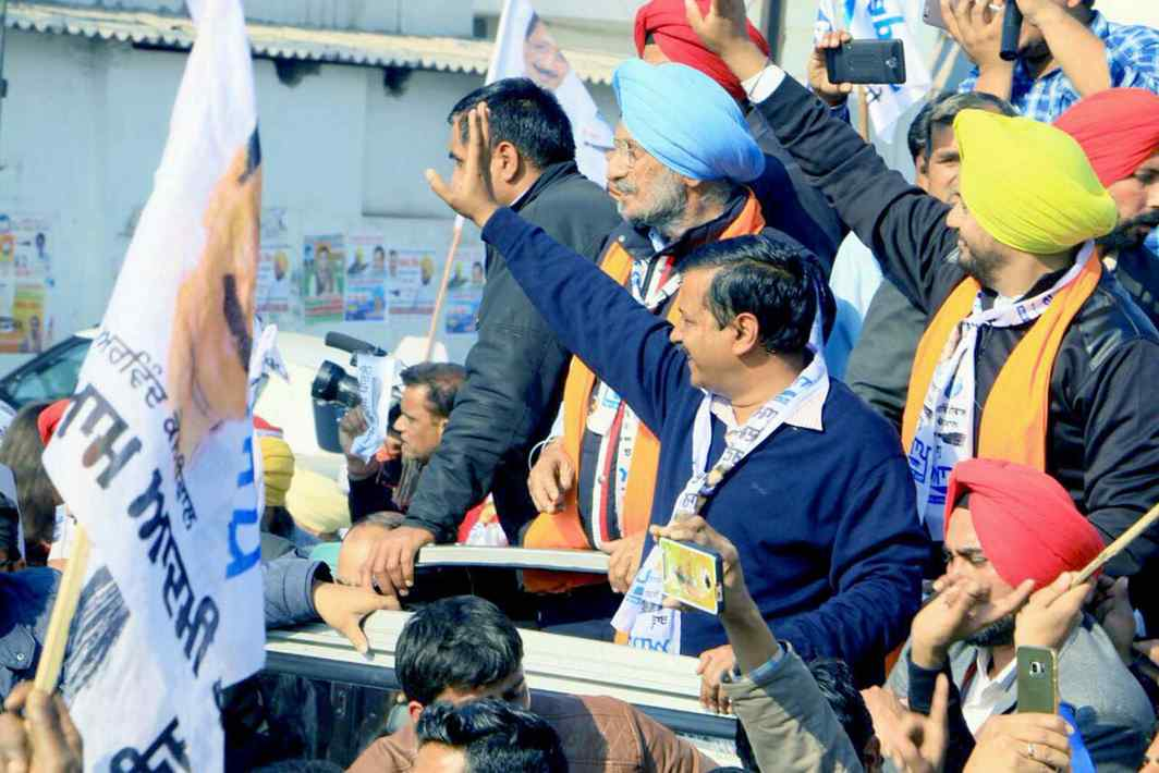 AAP leader Arvind Kejriwal, who lost the Punjab assembly polls, claims that both the Badals and Capt Amarinder Singh were afraid he might expose them. Photo: UNI