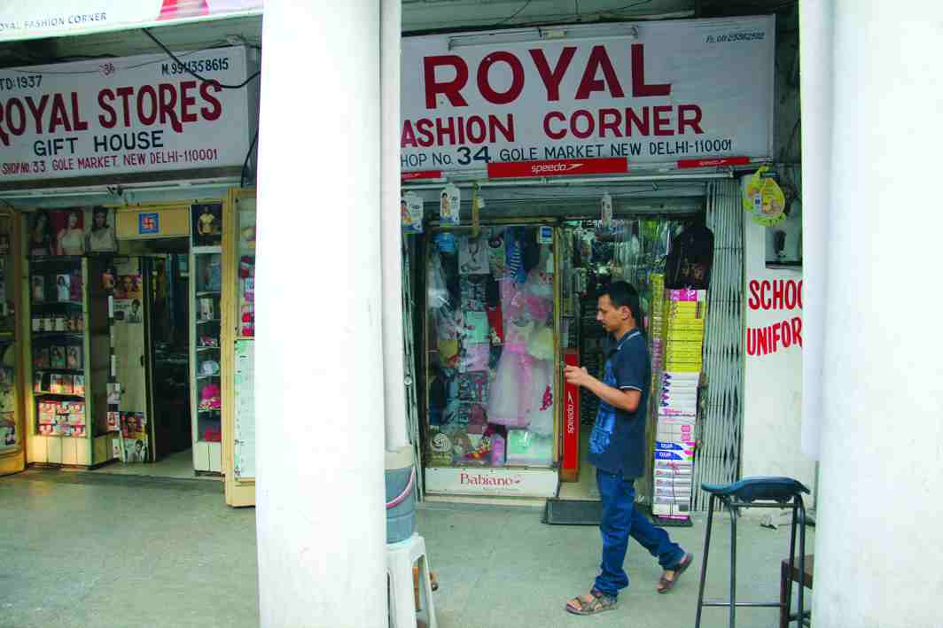 Licences of several shops in Gole market area, like this one next to the controversial shops, have been renewed. Photo: Bhavana Gaur