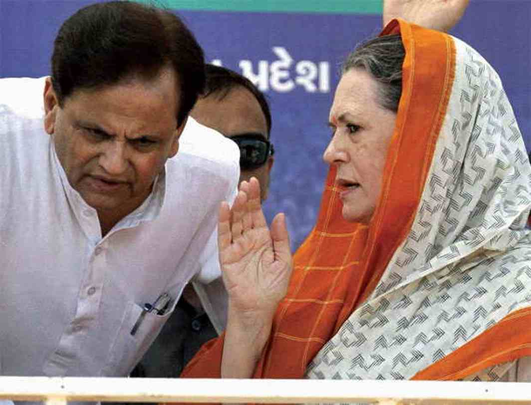Congress president Sonia Gandhi with Ahmed Patel