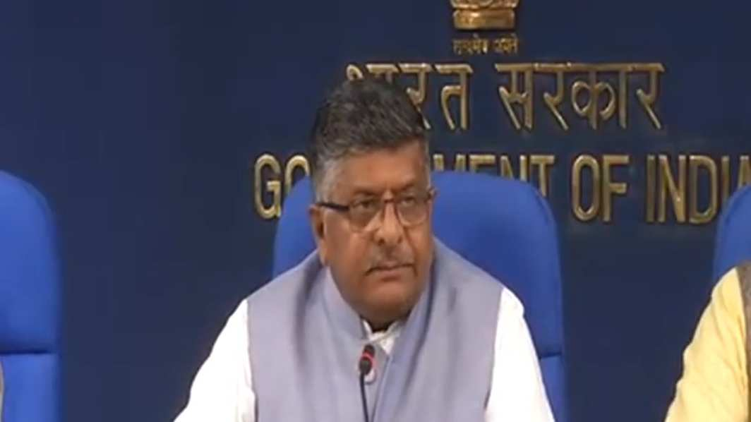 Union Law Minister Ravi Shankar Prasad addressing media persons clarifying government's stand after SC declared Right to Privacy as a fundamental right
