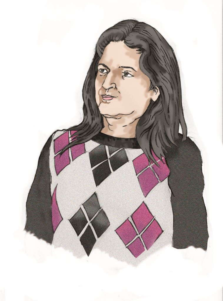 The petitioner Nisha Priya Bhatia. Illustration: Amitav Sen
