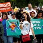 Immigration activists demanding protection of DACA and TPS programmes at a rally in Washington. Photo: UNI