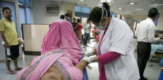 Fever Clinic at RML hospital in New Delhi. Photo: Anil Shakya