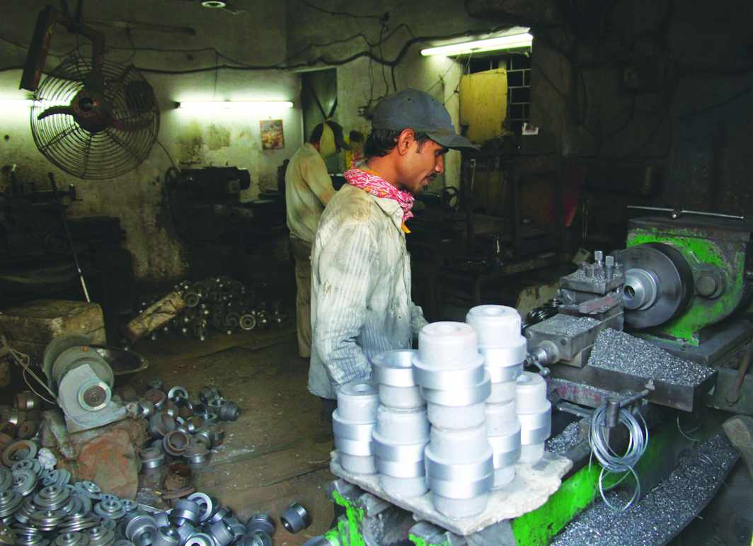 With firms trying to cut corners, most factory workers endure inhospitable conditions. Photo: Bhavana Gaur