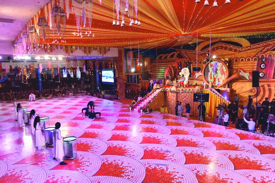 A mega hall of the Dera, where congregations were held