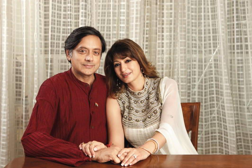 Shashi Tharoor with Sunanda Pushkar. Photo: buzzpickers.com