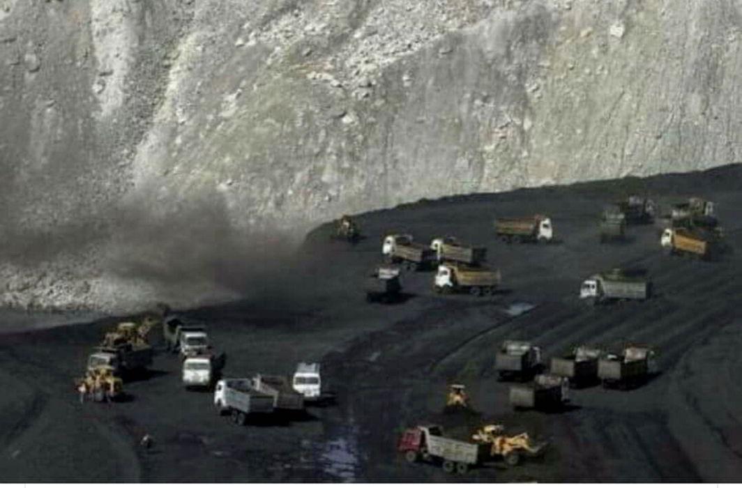 A TV grab of a coal mine in Lalmatia, Godda. Photo: UNI
