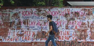 Cover ugly graffiti on DU walls with art, suggests Delhi HC