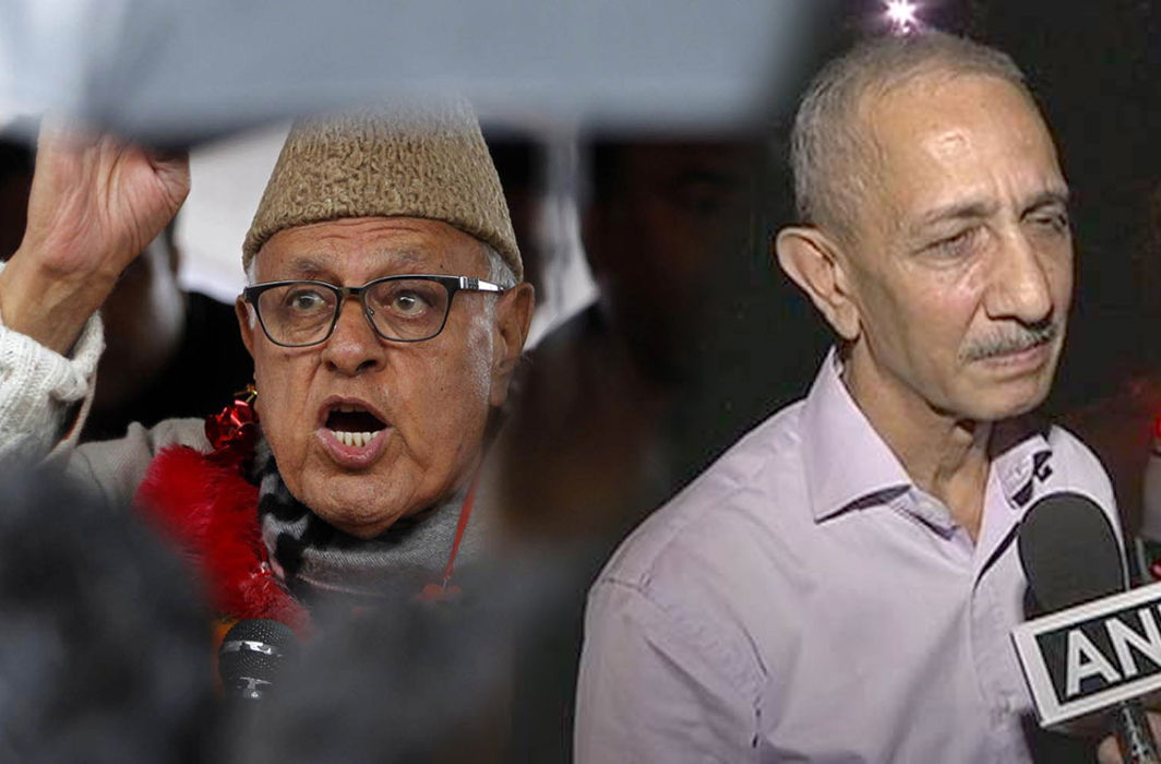 (Left) Farooq Abdullah and Dineshwar Sharma