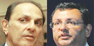 Nusli Wadia (left) was an independent director of the Tata group, and Cyrus Mistry (right) former chairman of the Tata group