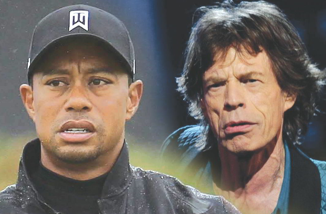 Golfer Tiger Woods and music icon Mick Jagger stand out for bad male behaviour. Photo: UNI