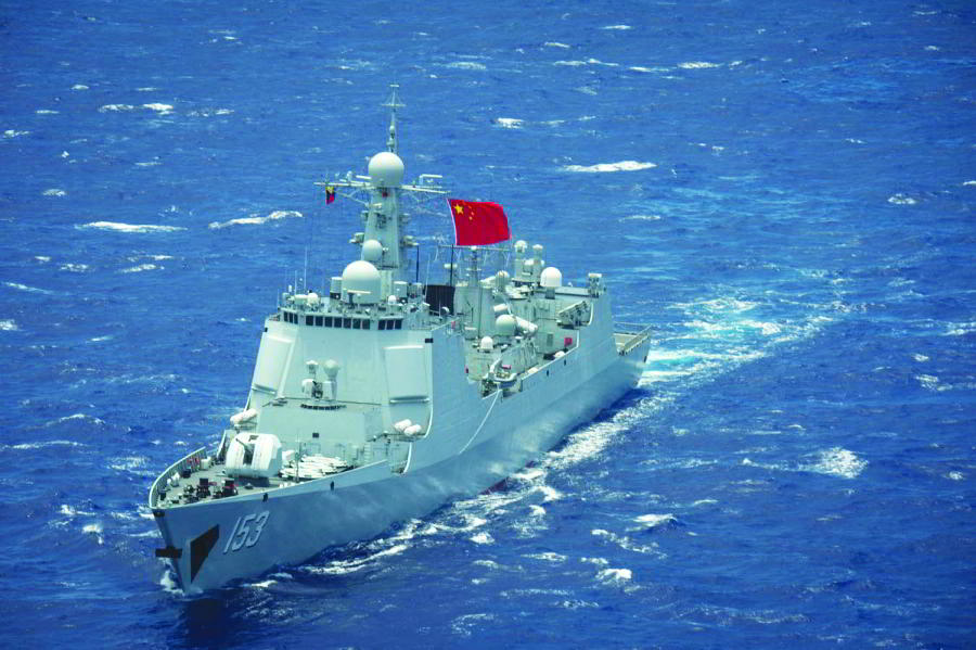 A Chinese Navy destroyer in the Pacific Ocean. Photo: stripes.com