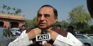 Above: BJP MP Subramanian Swamy (file picture). Photo: UNI