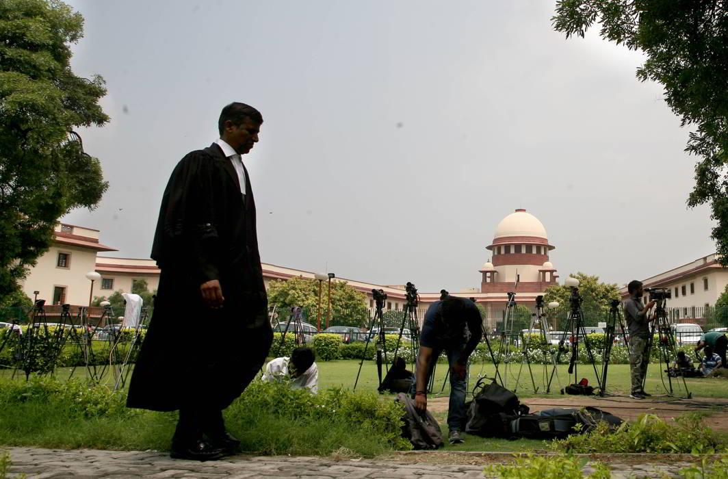 An advocate at Supreme Court. Photo: Anil Shakya