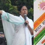 (Left) West Bengal CM Mamata Banerjee. Photo: UNI; Aadhaar card. Photo: Anil Shakya
