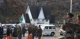Union Defence Minister Nirmala Sitharaman at Nathu La. Photo: Raksha Mantri/Twitter
