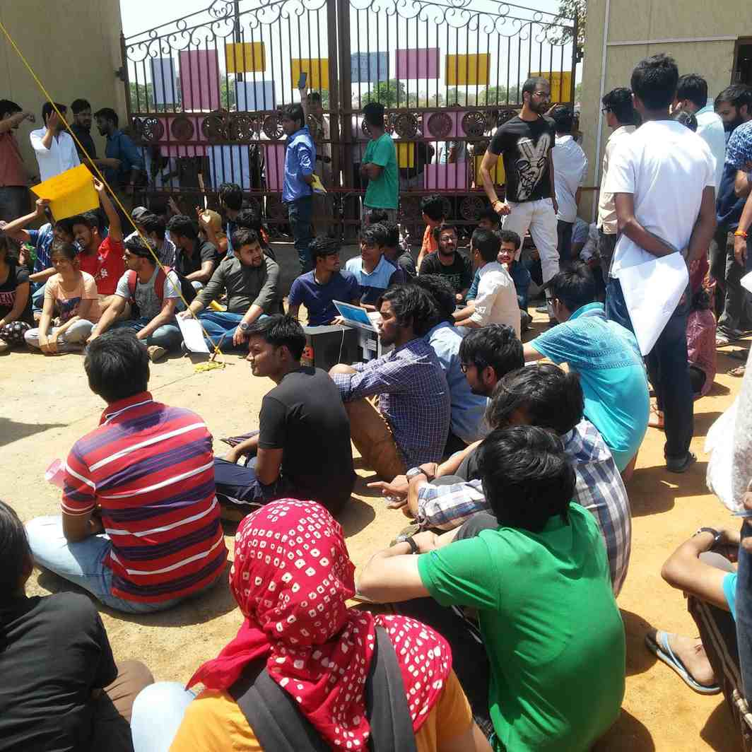 Protesting students at NUSRL, Ranchi. Photo: Twitter