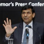 Former RBI Governor Raghuram Rajan speaking during a news conference in Mumbai. Photo: UNI