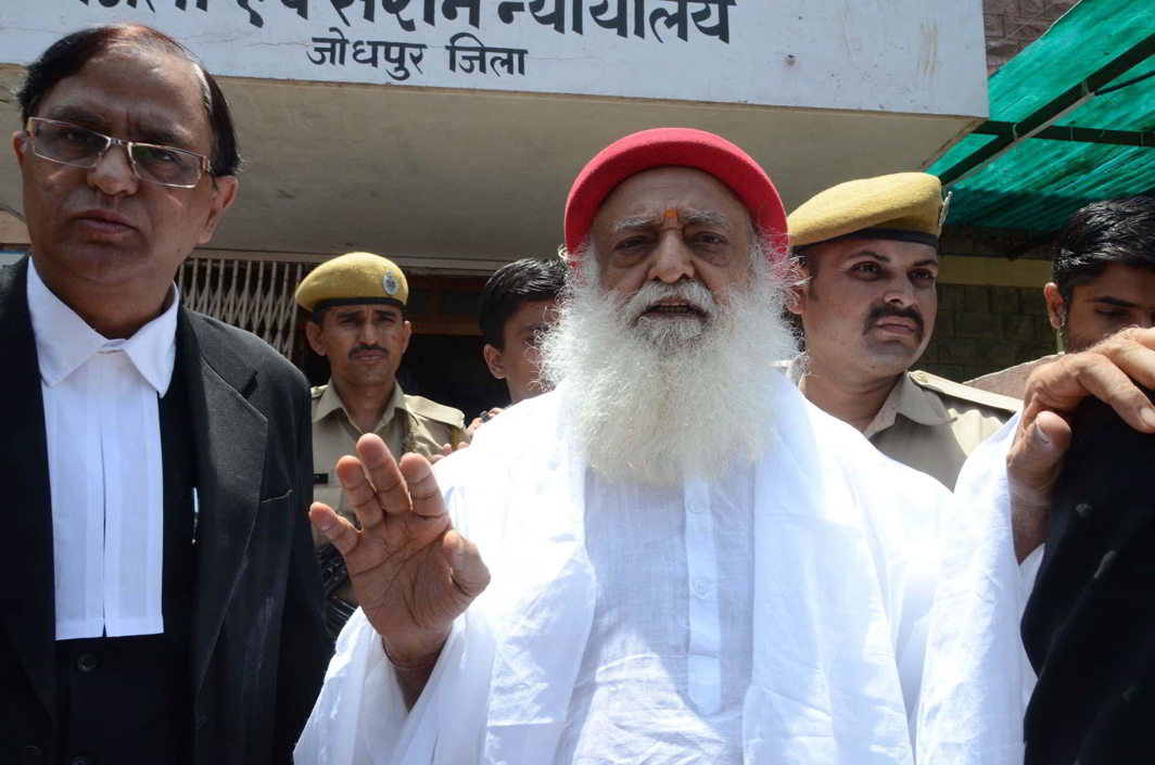 Rape accused godman Asharam Bapu being produced in Court in Jodhpur (file picture). Photo: UNI