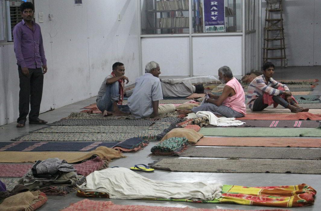 Homeless people in Rain Basera in New Delhi (file picture). Photo: Bhavana Gaur