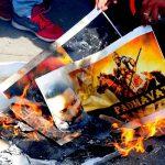 Karni Sena has been staging violent protests against the release of Padmavati. Photo: UNI