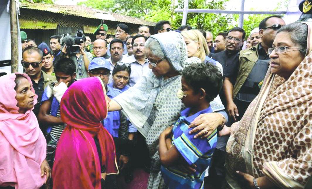 Bangladesh PM Sheikh Hasina Wajed meets Rohingya children