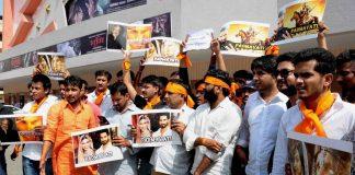 Karni Sena activists protest against Sanjay Leela Bhansali's upcoming movie Padmavati, in Jaipur. Photo: UNI
