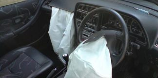 A representative picture of airbags in a car