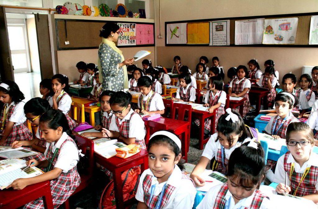 School children in one of the schools in Srinagar/Photo: UNI