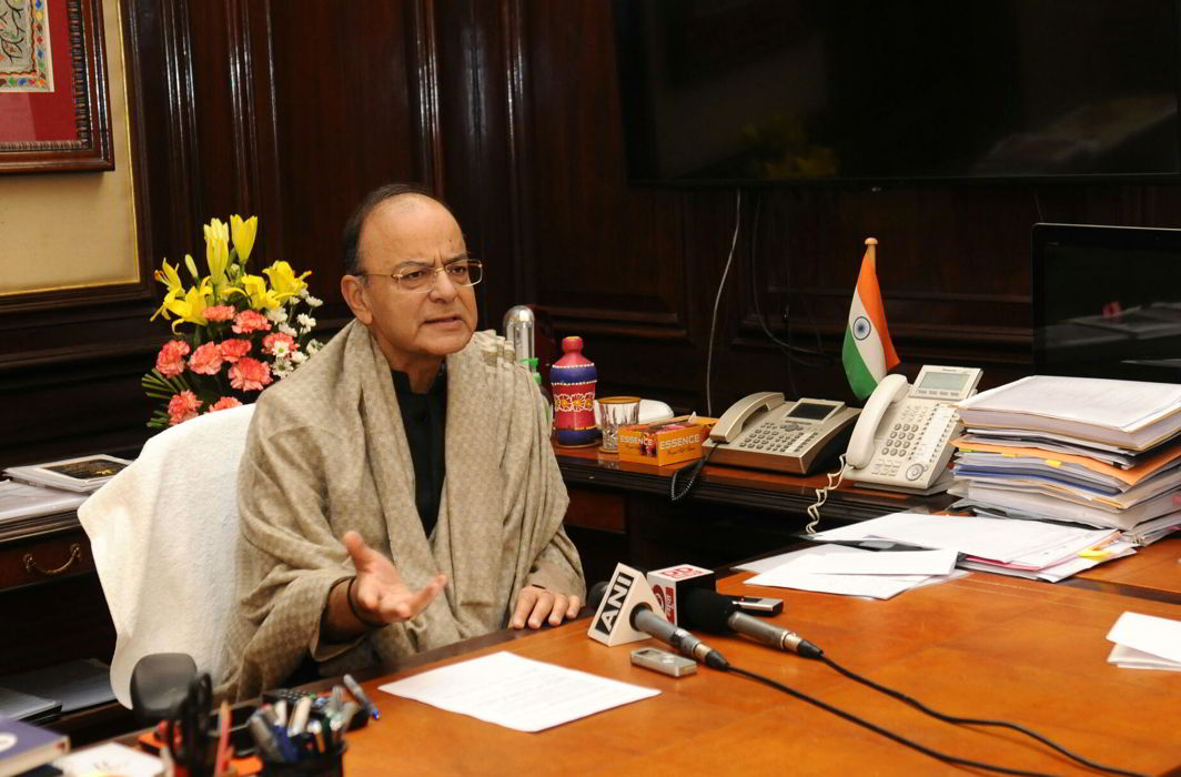 The Union Minister for Finance and Corporate Affairs, Arun Jaitley making a statement about the provision of financial resolution and deposit Insurance bill 2017, regarding protecting the interest of depositors and removing any misgivings in this regards, in New Delhi on December 11, 2017/Photo: PIB