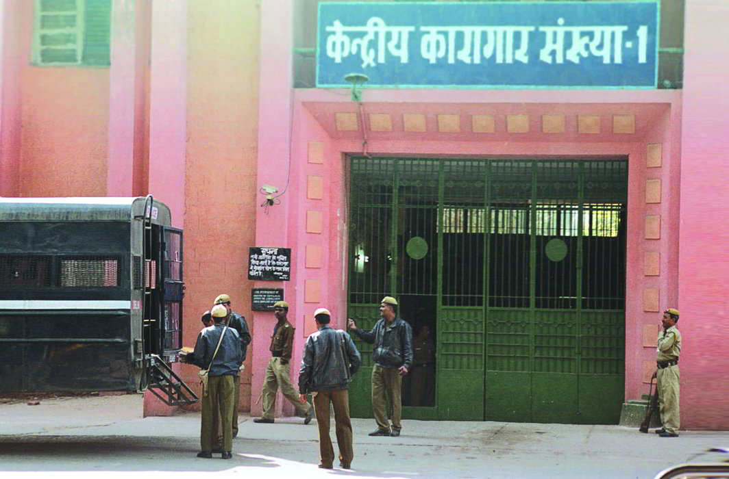 The entrance to Central Jail No. 1 of Tihar Prisons. Photo: Rajeev Tyagi