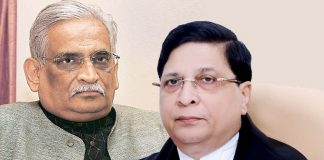 Rajeev Dhavan (left) and CJI Dipak Misra