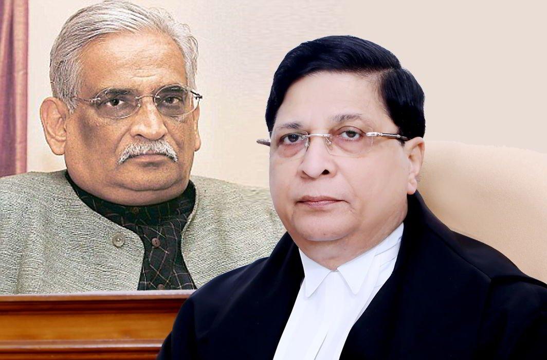 Rajeev Dhavan (left) and CJI Dipak Misra