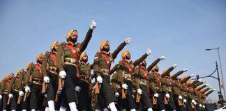 Army parade at Rajpath, New Delhi