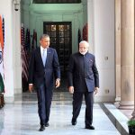 Prime Minister Narendra Modi with U S President Barack Obama at Hyderabad House in New Delhi (file picture). Photo: UNI