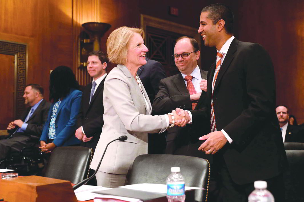 The current FCC chairman is Ajit Pai (right), a Trump appointee. A recent plan by the FCC intends to dismantle rules that ensure equal access to the internet.