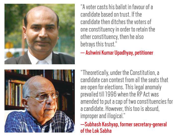 Ashwini KumarUpadhyay, petitioner(above). Subhash Kashyap, former secretary general of Lok Sabha