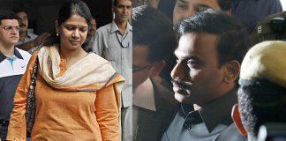 DMK Kanimozhi (file pic) and A Raja (file picture). Photo: Anil Shakya