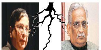 (Left) Chief Justice of India Dipak Misra and Rajeev Dhavan