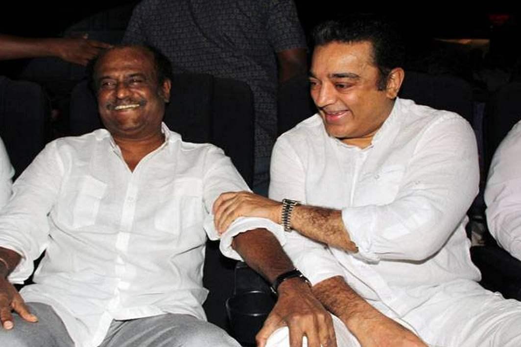 Will the huge fan following of Rajinikanth (left) and Kamal Haasan translate into votes?/Photo: Cinema.com