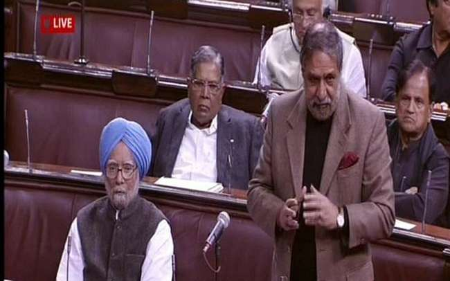 Congress leader Anand Sharma arguing against the triple talaq Bill in Parliament