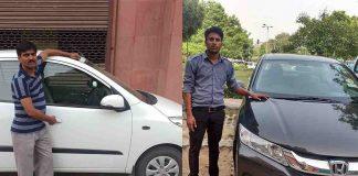 Cab drivers in New Delhi