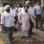 AAP MLAs leave the Election Commission office. Photo: UNI