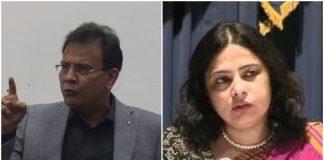(Left) Aman Lekhi and Meenakshi Lekhi