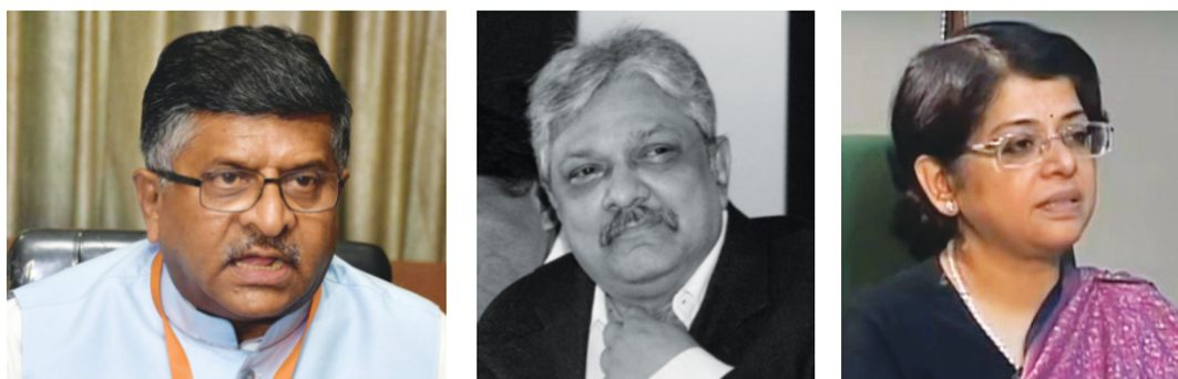 (From far left) Law Minister Ravi Shankar Prasad; Recommendations for the elevation of Uttarakhand Chief Justice KM Joseph and senior advocate Indu Malhotra were ignored by the Executive