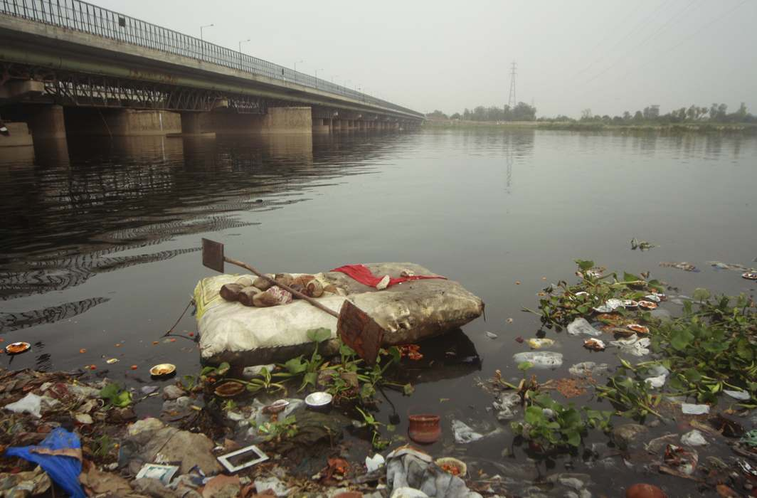Image result for yamuna pollution