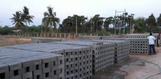 Bricks made from Fly ash on display (file picture)